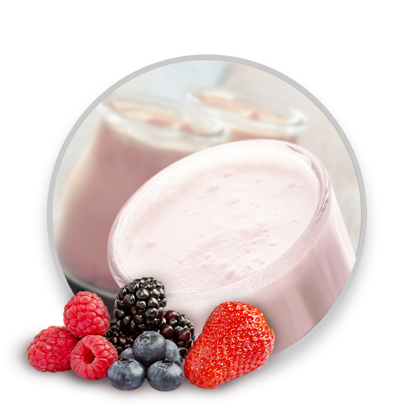 Fruits rouges yogurt